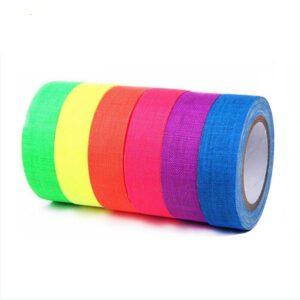 UV Fluorescent Cotton Tape - 6 colour pack
