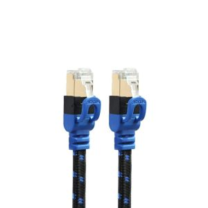 Ethernet Cable - Braided, CAT7, Gold Plated (Various Lengths)