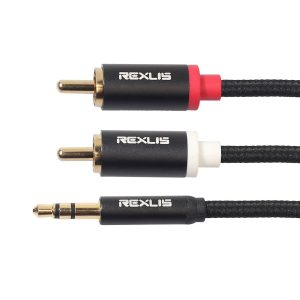 Aux Cable - 2RCA to 3.5mm Jack (Various Lengths)