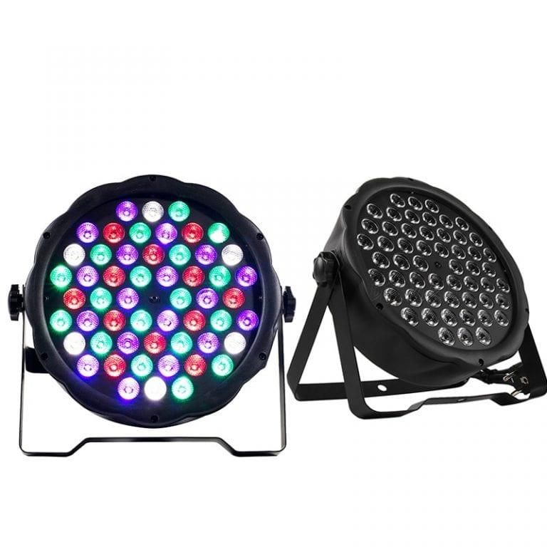 LED Flat Par - 54x3W, RGBW, DMX (2pcs)