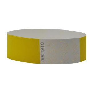 Tyvek Wristbands 19mm with Numbers (1000pcs) - Yellow