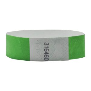 Tyvek Wristbands 19mm with Numbers (1000pcs) - Green