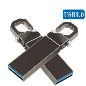Flash Drive - Metal with Keyring (Various Options)