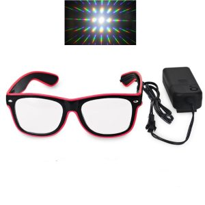El Wire Diffraction Glasses -  Firework Pattern