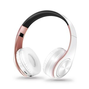 Wireless Folding Headphones  - Various Colours - White Rose Gold
