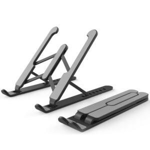 Laptop Riser Stand - Portable ,Foldable (Various Options) - Black