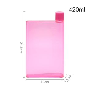 Drinks Bottle - A5/A6 Notebook Water Bottle (Various Options) - Asia, A5 Pink