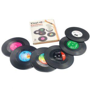 Plastic Vinyl Record Table Coasters (Various Options)