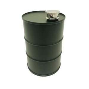 Drinks Bottle / Flask - 740ML, Stainless Steel Drum (Various Options) - 740ml (25oz), Green