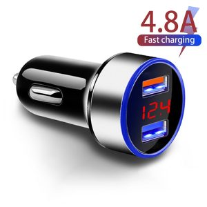 Car Charger - 2 Ports, 4.8A 5V, Fast Charging (Various Options)