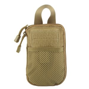 Utility Pouch - Folding, Water Resistant, 1000D (Various Options) - Tan