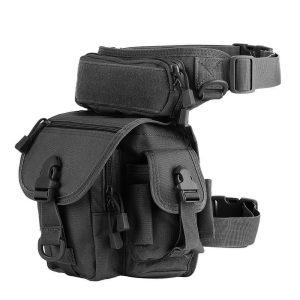 Waist & Leg Utility Bags - Water resistant, 800D (Various Options) - Type 1 - Black, Asia