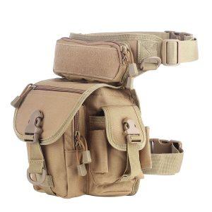 Waist & Leg Utility Bags - Water resistant, 800D (Various Options) - Type 1 - Tan, Asia