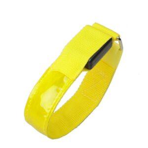 Led Armbands - Yellow, Replaceable Batteries, 2pcs