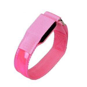 LED Armbands - Pink, Replaceable Batteries, 2pcs