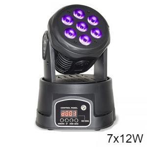 Moving Head Mini - 7x12W, Wash, RGBW, DMX