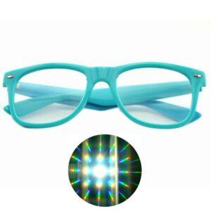 Diffraction Glasses - Firework Pattern (Various Colours) - Blue Color