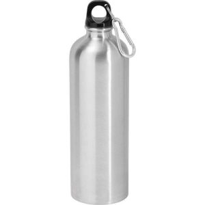 Drinks Bottle - Stainless, Screw top with Carabiner, 750ml, Silver
