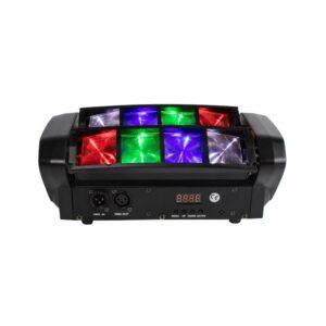 Mini Spider LED 8x10W RGBW Moving Head DMX 512